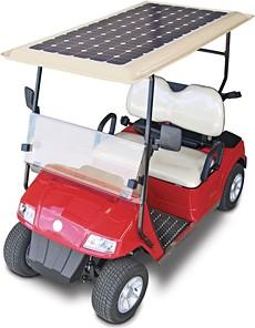 solar golf cart, solar powered golf cart