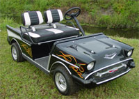 Chevy Golf Cart, 57 Chevy Cart, Custom Golf Cart